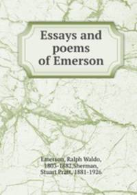 ralph waldo emerson essays and poems